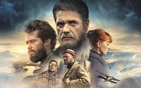 Picture the plane, river, the airplane, North, poster, Egor Beroev, snow, Konstantin Lavronenko, Ksenia Kutepova, Yevgeny ...