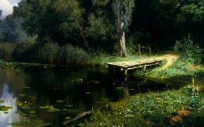 Picture picture, Polenov, Overgrown pond