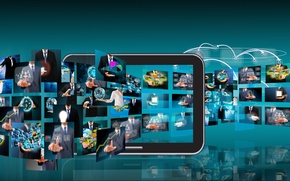 Picture tablet, mobile, programs, apps