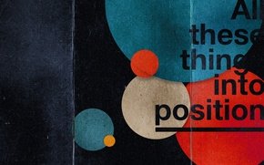 Picture texture, Circles, typography