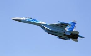 Picture fighter, Sukhoi, multipurpose, Flanker, Su-27