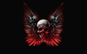 Wallpaper weapons, The Expendables, skull