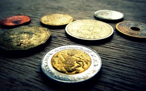 Picture silver, metal, Golden, coin