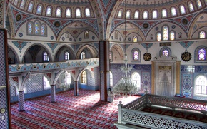 Picture pattern, paint, arch, mosque, architecture, Turkey, column, Manavgat