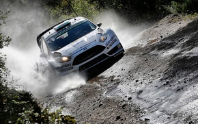 Picture Ford, Water, Ford, Squirt, WRC, Fiesta, Elfyn Evans