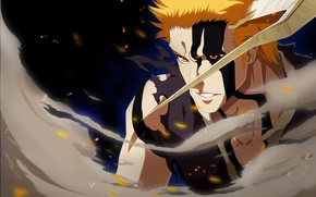 Picture battlefield, game, Bleach, anime, power, Kurosaki Ichigo, warrior, manga, japanese, oriental, powerful, strong, muscular, shinigami, …