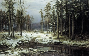 Wallpaper picture, Shishkin, The first snow