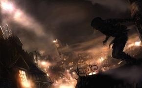 Wallpaper thief, night, deadly shadows