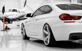Picture auto, the plane, BMW, white, BMW 650i