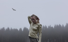 Picture forest, look, fog, eagle, singer, electronic music, model, indie pop, soul