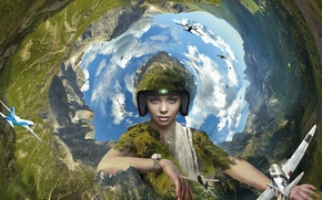 Picture earth, air, aviation, pilot, effects
