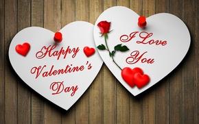 Picture love, heart, rose, love, rose, Valentine, heart, romantic, postcard, Valentine's Day, paper, Happy, I Love …