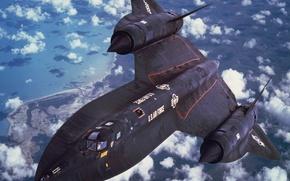 Wallpaper strategic, scout, Blackbird, Lockheed, SR-71, supersonic