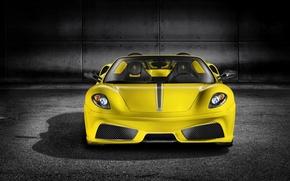 Picture yellow, background, Wallpaper, sports car, Ferrari
