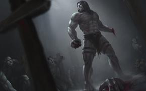 Wallpaper orcs, Warlords of Draenor, world of warcraft, hand, Kargath Bladefist, blood, dark, warchief