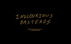 Picture letters, the inscription, minimalism, Inglourious Basterds, title, black background, tarantino, inglourious basterds, Quentin Tarantino