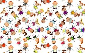 Picture children, background, mood, figure, texture, art, children's