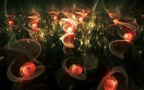Picture spiral, glow, fractal patterns