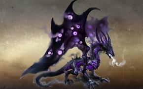 Wallpaper dragon, wings, shadows, Heroes of might and Magic 6, shadows, dragon, smoke, art, breath, Heroes ...