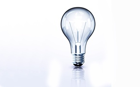 Picture Light bulb, White, Not lit
