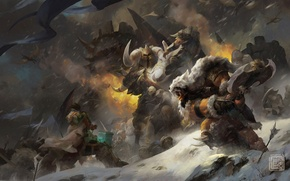 Picture Orc, Warlords of Draenor, Go'el, Son of Durotan, Frostwolf Clan, Durotan, frostwolf, warcraft, Thrall, WoW, ...