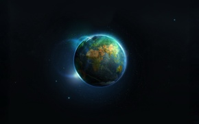 Picture lights, earth, planet, 155