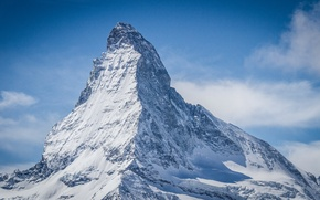Picture snow, the slopes, shadow, Switzerland, top, The Pennine Alps, Klein Matterhorn