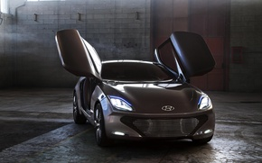 Picture auto, Concept, light, lights, Hyundai, the front, i-oniq
