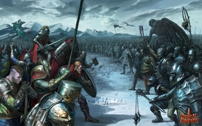 Wallpaper snow, weapons, army, war, giant, World of Battles