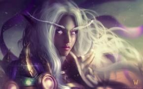Picture World of Warcraft, wow, art, elf, Icecrown