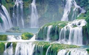 Wallpaper waterfall, landscape, cascade