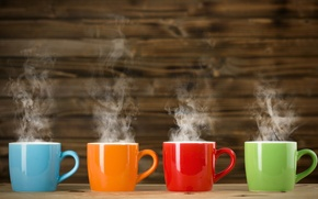 Picture color, orange, blue, red, green, couples, Cup, colorful