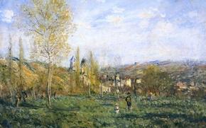 Picture landscape, picture, Claude Monet, Springtime in Vétheuil