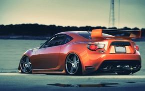 Picture toyota, orange, gt86