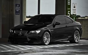 Wallpaper black, BMW, BMW, lift, Parking, black, E92