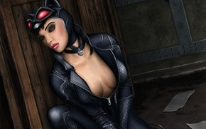 Picture face, art, costume, closed eyes, Catwoman, cat woman, selina