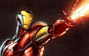 Picture superhero, iron man, marvel, iron man, Tony stark, trading card steam