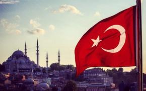 Picture Flag, Istanbul, Turkey, Istanbul, Turkey, Flag