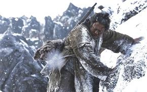 Picture cinema, gun, Blizzard, weapon, tiger, snow, movie, asian, film, oriental, montain, The Tiger: An Old …