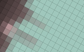 Picture pink, blue, squares, geometry, brown, design, color, material