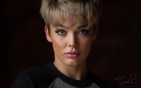 Picture look, face, portrait, makeup, bangs, Rosie Robinson