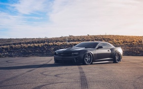 Picture Chevrolet, Camaro, Black, Sunset, VIP, Wheels, VR15, Modular