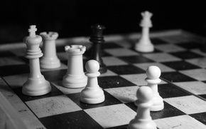 Wallpaper black, white, chess