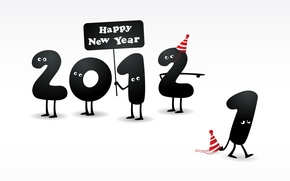 Wallpaper eyes, new year, figures, legs, 2012, the number, happy new year, caps, 2 ran 1
