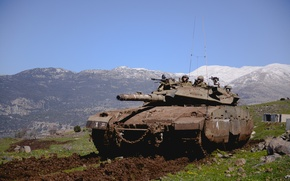 "Picture tank, combat, main, Merkava, Israel, ""Merkava"", The Golan heights"