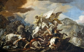 Picture picture, mythology, Corrado Dzhakvinto, The battle of Clavijo
