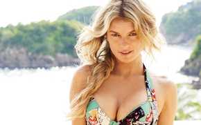 Picture summer, Marisa Miller, smile, model, hair