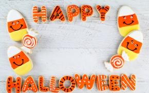 Picture cookies, Halloween, Halloween, glaze, cookies, pumpkin, Happy