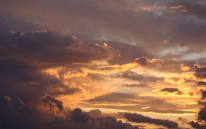 Picture the sky, sunset, clouds, Akela White