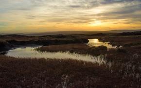Picture stream, the evening, horizon, evening, horizon, stream
